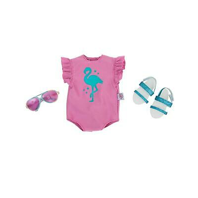 Chad Valley Designafriend Flamingo Beach Outfit Swimming Pool Clothes For Doll