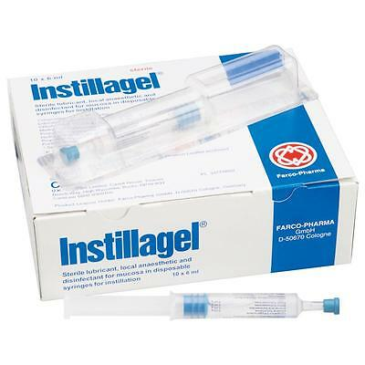 3 x Instillagel local anaesthetic and antiseptic lube lubricant 11 ml sealed