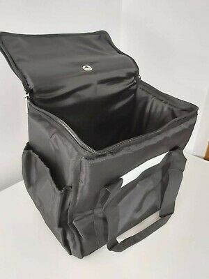 Black Medium Insulated Delivery Keep Warm Bag - Ideal for Takeaways