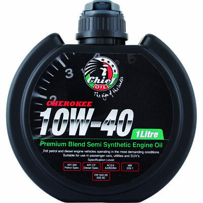 Chief Cherokee Engine Oil - 10W-40 1 Litre