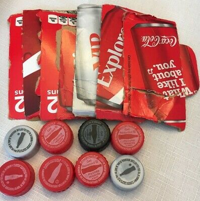 Lot of 15 Caps & Pack Codes My Coke Rewards Points Unused Coca Cola E-mailed