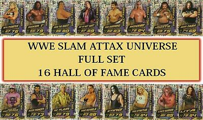 Topps 2019 WWE Slam Attax Universe - FULL SET OF 16 Hall of Fame Cards