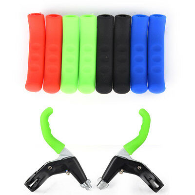 1 Pair Mountain Bike DH BMX Brake Lever Grips Rubber Protector Cover .