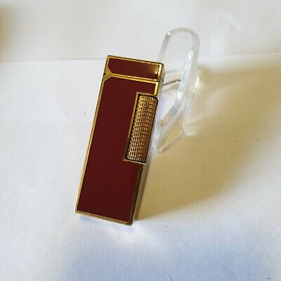Accendino  DUNHILL ROLLAGAS laccato Rosso , No gas leaks , lighter,briquet