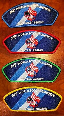 Complete 4 Regions Official BSA JSPs 2019 24th Boy Scout World Jamboree Mondial