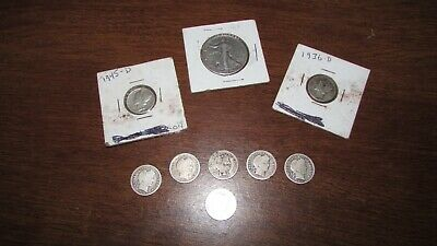 Mixed US Coin Lot: Collection of Old US Coins - Includes Silver 9 Coins Total