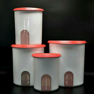 Tupperware Canister Containers Red NEW