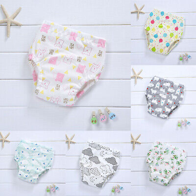 Baby Girl Boy Cotton Underwear Toilet Potty Training Cloth Diaper Nappy Pants
