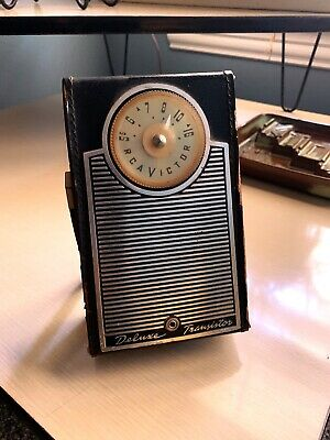 1960 RCA 1-T-3 Transistor Radio in All Leather Case