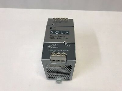 SOLA SDN 5-24-100 DC Power Supply 115/230 VAC 24VDC 5A PLC Automation