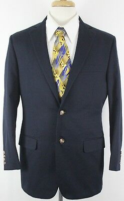 Brooks Brothers Men's 2 Button Suit Jacket 39R Navy Color Fitzgerald 1818