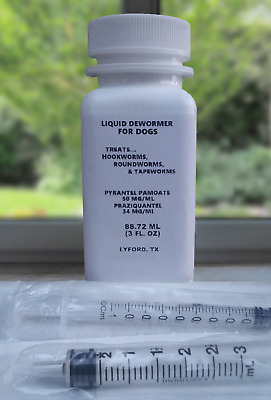 Canine Dewormer Control of parasites for Puppies and Adult Dogs ( Three fl oz. )