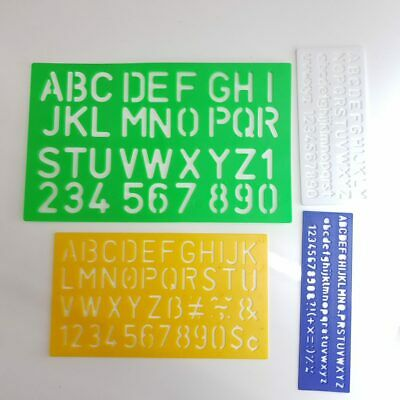 alphabet signwriting stencils letters numbers upper lower case 4 sizes