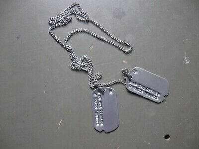 WW2 reproduction military dog tags with M1940 chain set