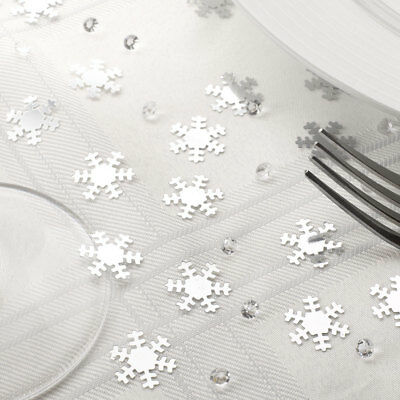 Shimmering Snowflake Table Confetti with Crystals Christmas  Winter Wedding
