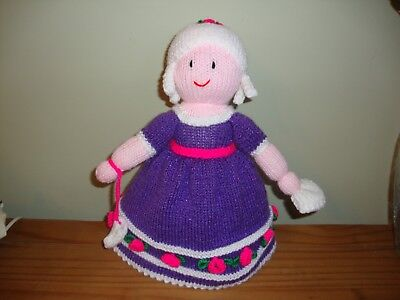 Newly hand knitted Topsy Turvy Doll  Cinderella to princess