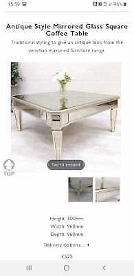 Antique Style Mirrored Coffee Table