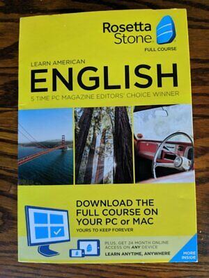 Rosetta Stone - American English Full Course Online Subscription w/ Download