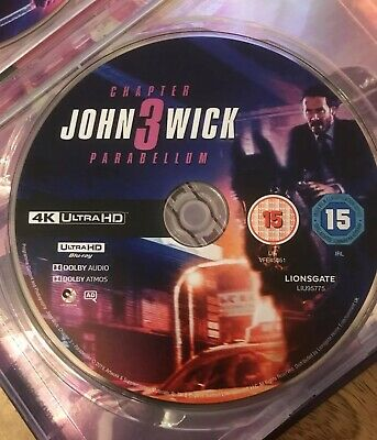 John Wick: Chapter 3 - Parabellum 4K [2019][Blu Ray]****DISC ONLY***