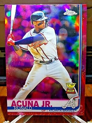 2019 Topps Chrome Ronald Acuna Jr. Pink Rookie Cup Refractor Parallel Sp #117 !!