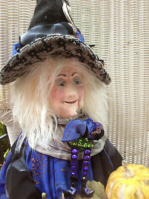 primitive Sweet Halloween Witch Art Doll