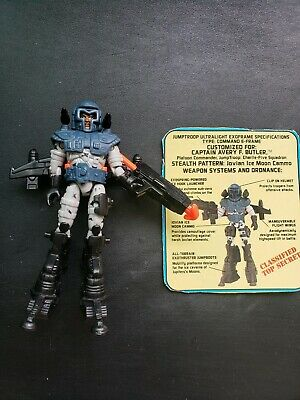 EXO Squad Weapon Jump Troops Captain Avery Butler Backpack w Hose 1991