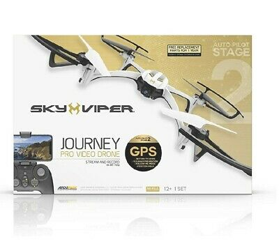 DRONE- SKY VIPER Journey PRO GPS Live Streaming 720p Video Recording- New in Box