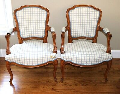 French Louis XV Arm Chairs - Pair