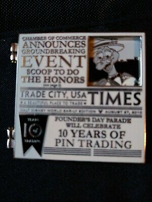 Walt Disney World 2010 Trade City USA Figment Newspaper LE 750 Pin