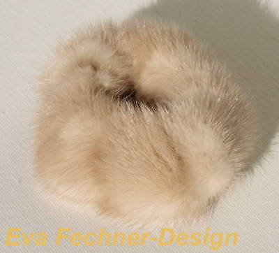 Mink Hair Bands Bracelet Cuff Beige Hair Accessories fur Mink Champagne Classy
