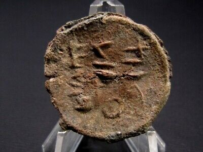 VERY RARE ROMAN PERIOD LEAD OVAL CURSE TABLET with INSCRIPTION!!!