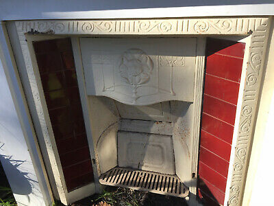 Victorian/Edwardian Cast Iron Fireplace Insert/Surround Antique