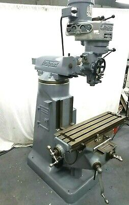 Bridgeport Milling Machine 1HP 36 inch table bijur oiler single phase available