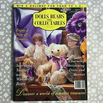 Dolls Bears and Collectables Vol 1 No 6 used 1995 miniatures projects cloth doll