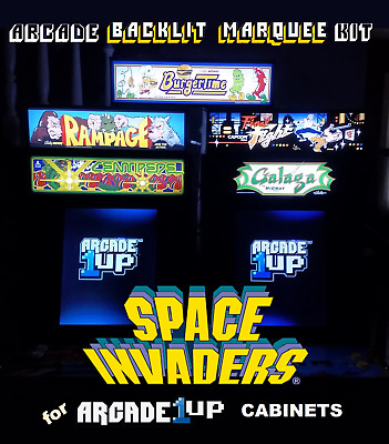 Arcade1up Space Invaders 40th Anniversary Marquee Kit for A1up Cabinets - Green