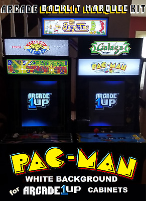 Arcade1up White Pac-Man Backlit Marquee Kit for Arcade1up Cabinets - Green