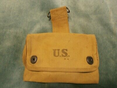 Ww2 1  Canvas Belt Pouch-Medic-Documents-Marked Omo 1918