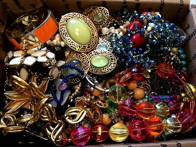 Junk Drawer Jewelry Lot - Wear, Repair And Scrap - 8 Pounds 2 Ounces - 3499