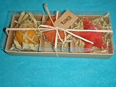 Sea Themed Candles Set Of 3 Sand Dollar, Anemone, Starfish~ New In Box!