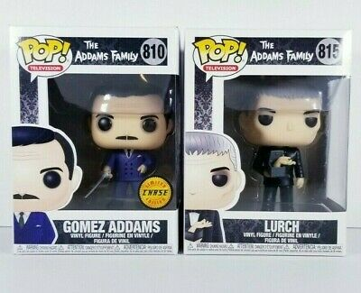 Funko POP Addams Family LURCH with Thing + Gomez CHASE with Sword (Some Damage)