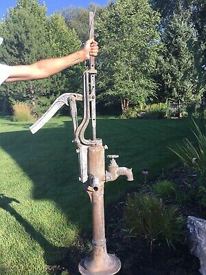"F E Myers Antique 52"" Tall Cast Iron Well Hand Pump Dated 1888 Garden/Yard Art"