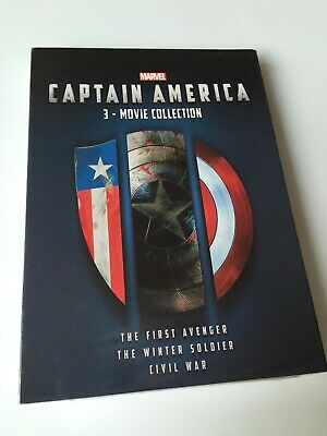 Captain America 1-3 1 2 3 3 Movie Collection( DVD, 2018, 3-Disc Box Set ) Sealed