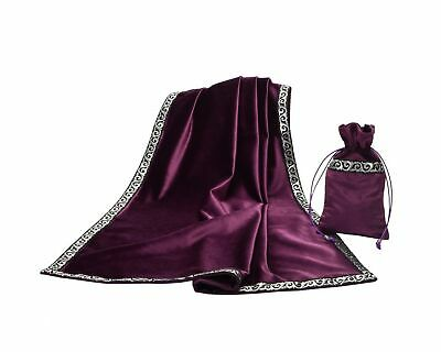 BLESSUME Altar Tarot Table Cloth Divination Wicca Velvet Cloth with Tarot Pou...