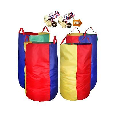 """Potato Sack Race Bags 34""""Hx17""""W(Pack of 4) with Game Prizes(12Pcs) for Childr..."""