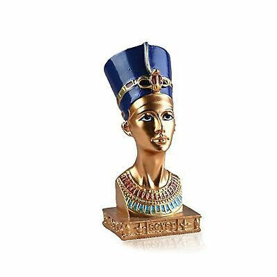 VAXMON Ancient Egyptian Queen Nefertiti Statue Small Head and Bust Resin Stat...