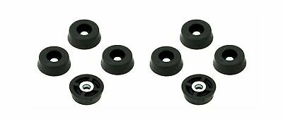 8 Small Extra Soft Round Rubber Feet Bumpers - .250 H X .671 D - Made in USA ...