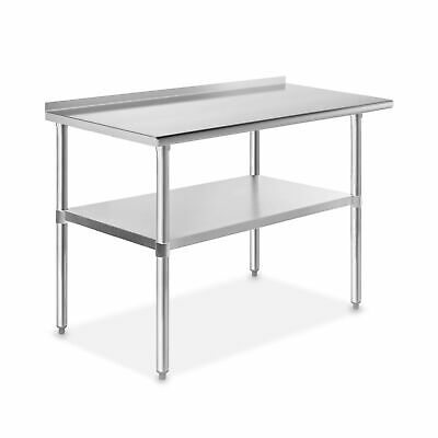 GRIDMANN NSF Stainless Steel Commercial Kitchen Prep & Work Table with Backsp...