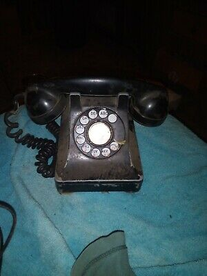 vintage 1940's  Bell System  Western Electric Black Rotary Phone A Must Have!