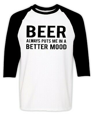 Beer Drinking Raglan T Shirt Alcohol Party Funny Humor Sarcastic Drinker Gifts