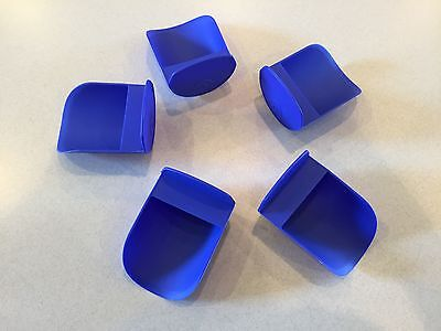 Tupperware New Rnd Flour Rocker Scoops Electric Blue